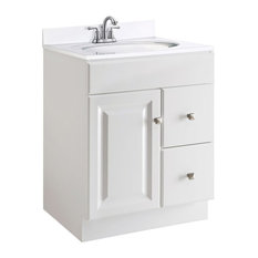 Design House - Vanity Cabinet in White Finish - Bathroom Vanities and Sink Consoles