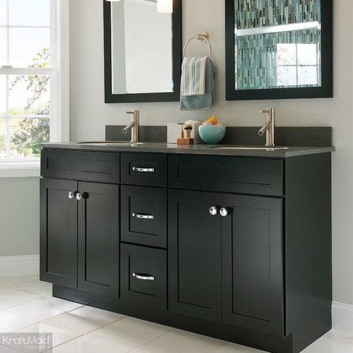 KraftMaid: Bathroom Sink Base In Onyx   Bathroom Vanities And Sink Consoles