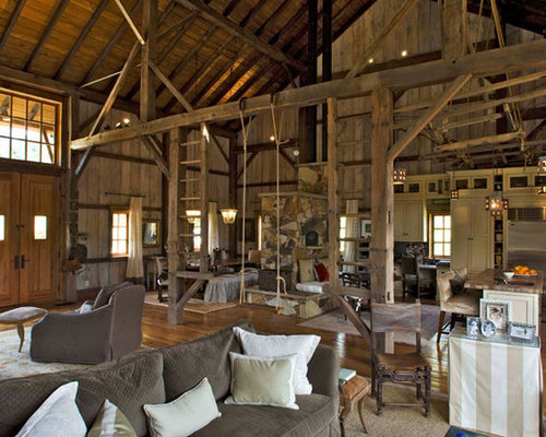 Barn house interiors houzz Barn home interiors
