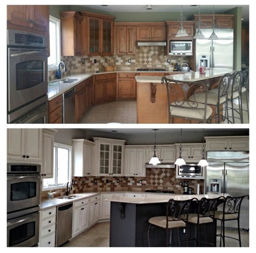 Update wood kitchen cabinets at a fraction of the cost!