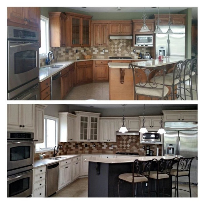 Kitchen Before and After at a fraction of the cost!