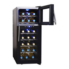 NewAir - NewAir AW-210ED 21 Bottle Dual Zone Thermoelectric Wine Cooler, Black - Beer and Wine Refrigerators