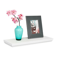 Wilson Floating Shelves Wall Display Ledge Wood Shelf, White, 24""