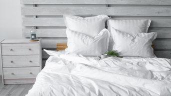 Однотонное постельное белье - белый