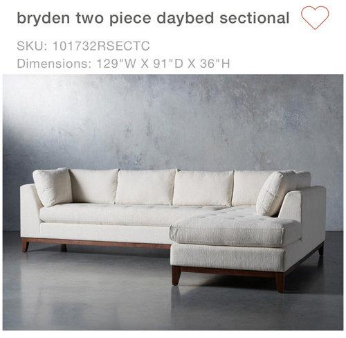 Groovy Similar Daybed Sectional To Arhaus Bryden Customarchery Wood Chair Design Ideas Customarcherynet