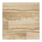 Salvage Matte Porcelain Tile, Honey, 50 Pieces, 6x40