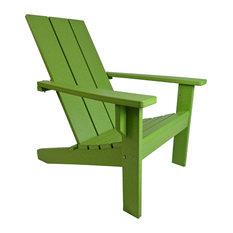 Modern Poly Adirondack Chair, Lime