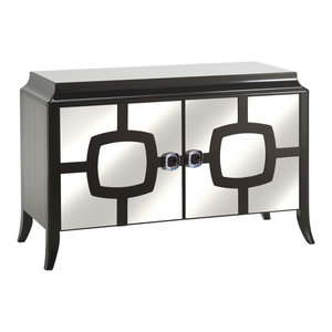 2-Doored Mirrored Chest