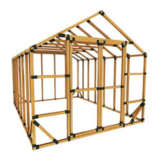 10x14 Standard Storage Shed Kit, With Floor Framing