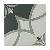 "7.75""x7.75"" Thirties Ceramic Floor/Wall Tiles, Crest"