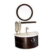 34 Inch Single Vanity-Wood-Ebony-Zebra