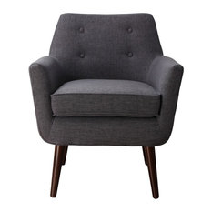 Nice TOV Furniture   Clyde Linen Chair, Gray   Armchairs And Accent Chairs