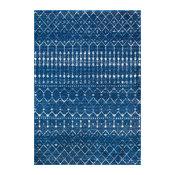 "Moroccan Trellis Rug, Blue, 5'x7'5"""