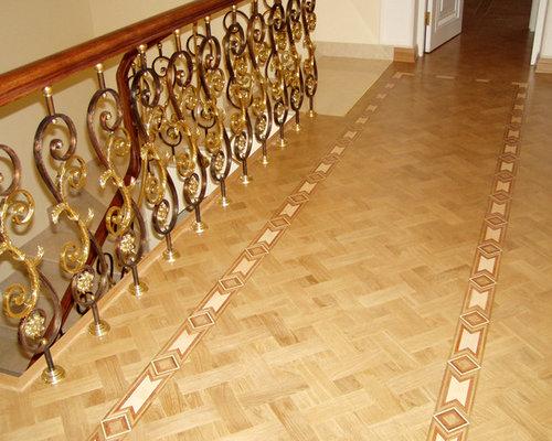 Basket Weave Parquet And Border   Hardwood Flooring
