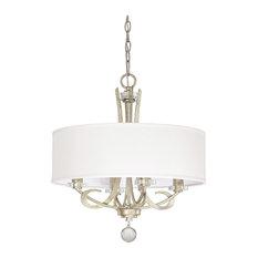 Capital Lighting 4264WG-568 Hutton 4-Light Chandelier, Winter Gold