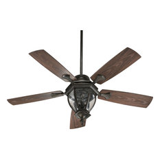 Quorum International - Baltic Patio 3 Light 52 in. Outdoor Fan in Oiled Bronze - Ceiling Fans