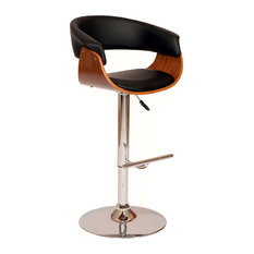 Paris Swivel PU Bar Stool, Black