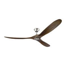"""Monte Carlo Fan Company Maverick Fan, Black, Brushed Steel, 70"""""""