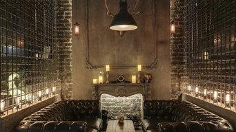 Декорирование интерьера Tangiers Lounge — кальянного лаунж-бара