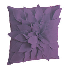 Sara's Garden Petal Decorative Throw Pillow, 17 Inch Square, Violet