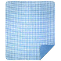 "Denali Gingham Light Blue Microplush Blanket, 60""x72"""