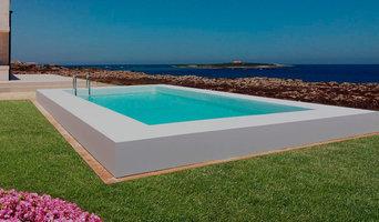Creazione bordo piscina in pietra acrilica