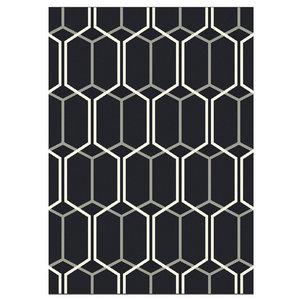 Mya Hexagon Rug, Black, 200x290 cm