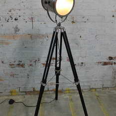 Shop top rated shop industrial floor lamps on houzz houzz vintage industrial tripod floor lamp collection floor lamps aloadofball Image collections