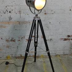 - Vintage Industrial Tripod Floor Lamp Collection - Floor Lamps