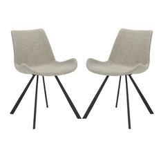 Terra Accent Chair Set Of 2 Light Gray Black