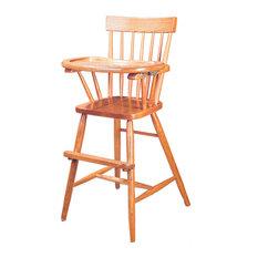 Comback Slide Tray High Chair, Oak Hardwood Handmade, Fruitwood Stain