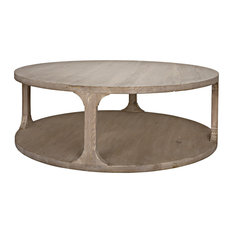 Reclaimed Lumber Gimso Round Coffee Table