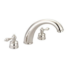 "Faucets Two Handle 6"" - 16"" Adjustable Widespread Tub Filler, Polished Nickel"