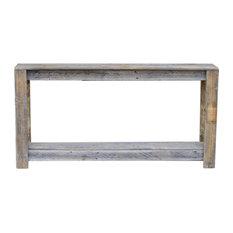 Doug And Cristy Designs   Farmhouse Sofa Table, Natural   Console Tables