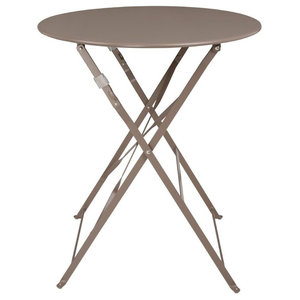 Cafe Outdoor Patio Table, Taupe