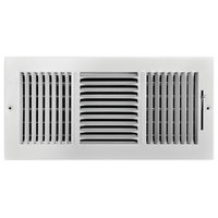 """Truaire 3-Way Steel Wall/Ceiling Register, 14""""x6"""", White"""