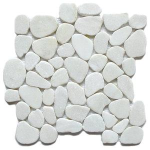 Interlocking Pebbles Tiles, Snow Flake Natural, Sample