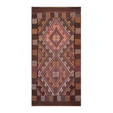 """Brown Rust Color Persian Rug, 6'4""""x11'8"""""""