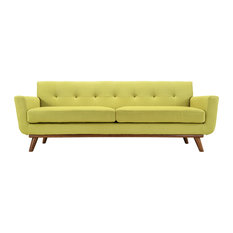 Engage Upholstered Fabric Sofa, Wheatgrass