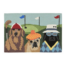 "Frontporch Putts & Mutts Indoor/Outdoor Rug Multi 20""x30"""