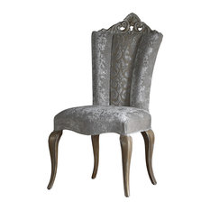 Silver Carving Dining Chair, Without Armrests