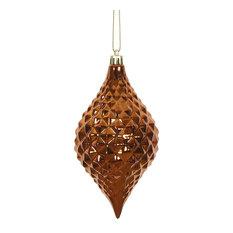 """Vickerman 6""""x3"""" Shiny Diamond Drop 4 per Bag, Copper"""