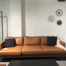 sofas - Tan Leather Sofa