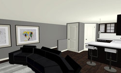 Sherbourne Circle - Media Room 3D Drawing
