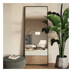 Bali Modern Floor Mirror, Gray