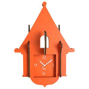 Wooden Jigsaw Cuckoo Clock, Orange