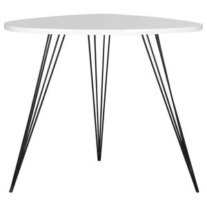 Safavieh Kaelyn Lacquer End Table, White and Black