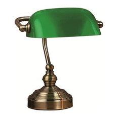 - Bankers grön bordslampa - Skrivbordslampor