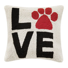 """Love"" Paw Print Hook Pillow"
