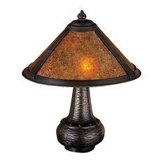 "14""H Van Erp Amber Mica Accent Lamp"